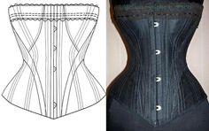 Ref: h patronage papier photos d'un corset ancien - patron couture - Atelier Sylphe Corsets - Fait Maison