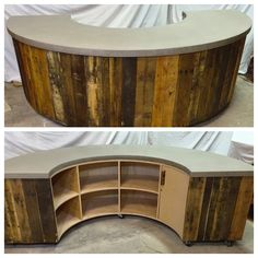 Welcome center I built for a local church. #reclaimed #palletwood  https://www.facebook.com/spearitinnovations http://spearit2.wix.com/spear-it
