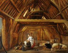 A Barn Interior with a Woman       Zoom    A Barn Interior with a Woman preparing Food  Cornelis Saftleven (Gorinchem 1607 - Rotterdam 1681)   National Trust Inventory Number 290375