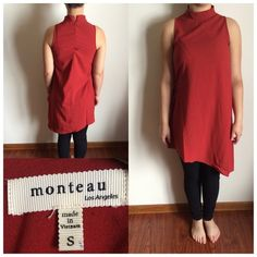 Monteau:Los Angeles women's asymmetrical shirt Gently used...Monteau:Los Angeles women's asymmetrical shirt . Adjustable waist. Size S Monteau Tops