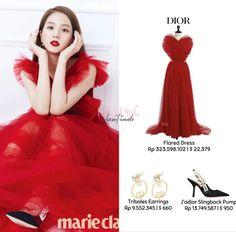 Blackpink Fashion, Fashion Outfits, Fashion Tips, Looks Teen, Korean Makeup, Kpop Outfits, Slingback Pump, After Dark, Flare Dress