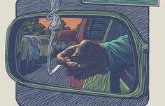 Juxtapoz Magazine - Woodcuts by Mitch Frey