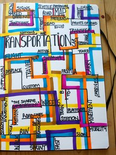 Trenchportation  (Transportation- mind map by Imy Reeves)