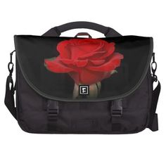 Red Rose Commuter Laptop Bags from Florals by Fred #zazzle #gift #photogift
