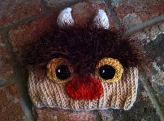 Hand Knitted Wild Thing Moishe Beanie Hat by NiftyNookDesigns----this would be perfect for Miss Madi!!! OMG I love!!!