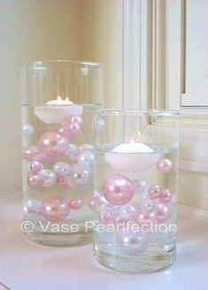 The light baby pink pearls make a great addition to any event. Float the pearls in clear water gels creates a cute look for your baby shower. Free Shipping.
