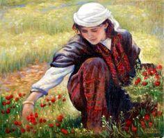 #Palestine #Art Palestine History, Palestine Art, Arabian Women, Arabian Art, Art Optical, Palestinian Embroidery, Painter Artist, Sand Art, Art World