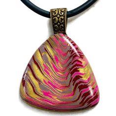 Orange,Yellow Green Magenta Handmade Bright Polymer Clay Necklace /& Earrings