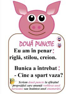 Semne de punctuație -Două puncte Romanian Language, Scarecrow Crafts, Little Einsteins, Teacher Supplies, Class Decoration, School Staff, School Lessons, Education Quotes, Preschool Activities