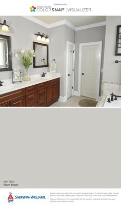 master bedroom paint colors Sherwin-Williams: Downy (SW Great light off-white for a bathroom or any room. Bathroom Paint Colors, Interior Paint Colors, Paint Colors For Home, House Colors, Paint For Bathroom Walls, Neutral Bathroom Colors, Bath Paint, Paint Walls, Master Bathrooms