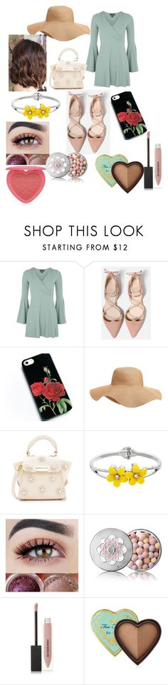 """""""Summertime"""" by lucy-clark9 ❤ liked on Polyvore featuring Topshop, Old Navy, ZAC Zac Posen, Guerlain, Burberry and Too Faced Cosmetics"""