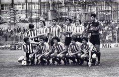 Athletic Club en un San Mamés en obras, 1981  Urkiaga, De Andrés, Bolaños, Goikoetxea, Núñez, Zubizarreta. Dani, Gallego, Noriega, Rojo I, Argote.  Foto Zarrabeitia