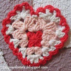 Zooty Owl's Crafty Blog: Granny Hearts
