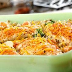 Chicken, Seasoned Rice and Vegetable Casserole Recipe on Yummly