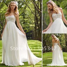 Free Shipping Custom made Chiffon Sweetheart Empire Long Swarovski Beading Wedding dresses on AliExpress.com. 15% off $143.65