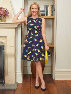 $225 Draper James Tennessee Tweet Dress has a peekaboo back cut-out and cute pocket details.