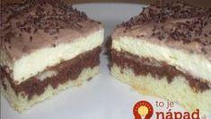 Úžasný tvarohový koláč ku káve: Neprekonateľná piškóta dvoch farieb a úžasný krém – lepší dezert nepoznám!