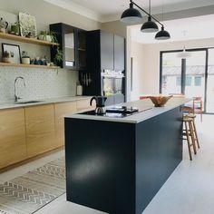 Fired Earth, Oak Doors, New Kitchen, Kitchen Ideas, Swansea, Table, House, Furniture, Dark Blue