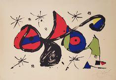 """Joan Miró """"Homenaje a Joan Miró"""" Litografía en colores Año: 1978 Dimensiones: 45,5 x 65,5 cm Numerada EA y firmada a mano Litografía con marca de agua con la firma de Miró Certificada por el Impresor Mourlot 1160 Precio: Consultar web  Web: www.grabadosylitografias.com Más información: galeria@grabadosylitografias.com"""