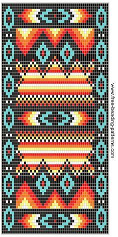 quilts or Beaded Wallet Pattern, Southwest Fire! Indian Beadwork, Native Beadwork, Native American Beadwork, Beading Patterns Free, Seed Bead Patterns, Peyote Patterns, Beading Ideas, Jewelry Patterns, Mochila Crochet