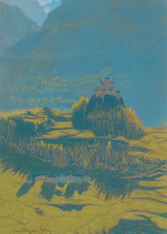 "inland-delta: ""Walter Beyer, View to Castle Tarasp, 1915 """