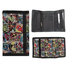BB Designs Marvel Comic Mania Velcro Wallet BB Designs