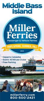 2015 Miller Ferries to Middle Bass Island, Ohio. Ferry schedules, fares, plus passenger and vehicle #travel #Ohio @ShoresIslandsOH. Find more info on http://www.millerferry.com