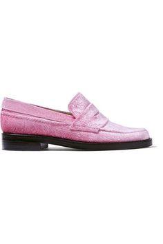 MR by Man Repeller | The Alternative to Bare Feet embossed velvet loafers | NET-A-PORTER.COM