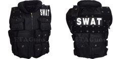 Mens POLICE OFFICER SWAT VEST TEAM Tactical Assault Halloween Costume Prop