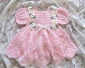 Crochet Pattern for Baby Christening Gown by littlebuddydolls