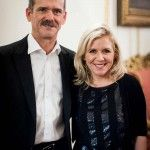 Lucy Hawking and Chris Hadfield