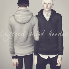Layered shirt hoodie | † Even death can die †