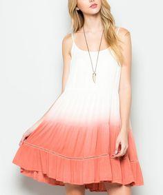 Mauve Ombré Ruffle Sleeveless Dress