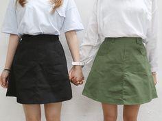 nyn-ja:  cotton a skirt