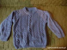niebieski sweterek dla chłopca lub dziewczynki