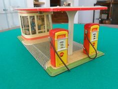 Vintage Arnold Tin Shell Gas Station Germany