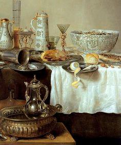Willem Claesz (Claeszoon) Heda (1593/1594-1680/1682) — Breakfast Still Life   (663x800)
