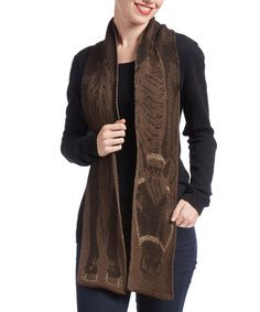 Another great find on #zulily! Red & Brown Horse Scarf #zulilyfinds