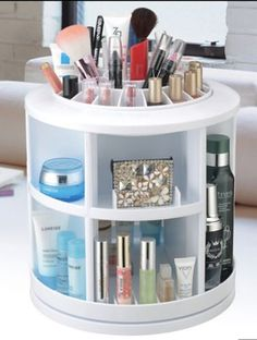 Qvc Makeup Organizer Enchanting Tabletop Spinning Cosmetic Organizer Also A Patent From Lori