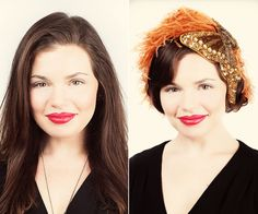 Halloween How-To: Turning Long Hair Into a Flapper Bob