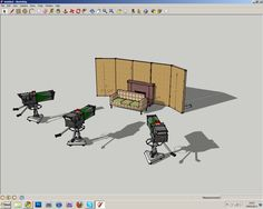 [youtube After looking up at this video i decided to down load Google Sketch-up to see if it would be useful in the design process of our studio set. This is what I created. This is the ideal studi…