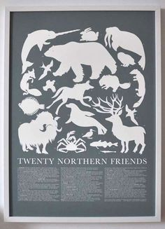 Northern Animals Print, by Banquet.