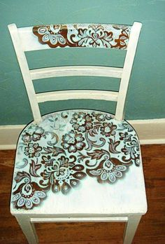 Stencilled chair.