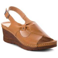 Σανδάλια POLLONUS - 5-0981-002 Rudy Shoes Flats Sandals, Girls Sandals, Leather Sandals, Wedge Sandals, Heels, African Fashion Traditional, Black Slippers, Wide Shoes, Shoe Show