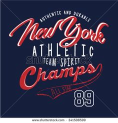 New york athletic slogan T-Shirt graphic. Typography design. Vector illustration.  - stock vector