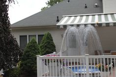 Decorative Fountains, Light Effect, Rooftop, Oasis, Terrace, Deck, Environment, Backyard, Places