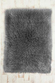 fluffy grey rug
