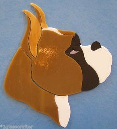 Boxer dog - precut stained glass mosaic kit. Many designs selling on ebay.
