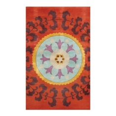 Suzani Area Rug This is a great global pattern       Grandin Road Color Crush on Burnt Orange