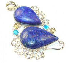 Great Impression Lapis Lazuli Sterling Silver Pendant